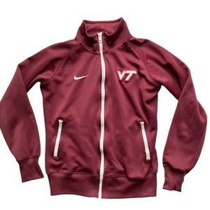 Nike Virginia Tech Hokies Zipper Jersey Jacket NEW